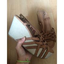Zapatos Plataformas Lucky Brande Piel Fina 100% Originales!!