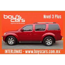 Nissan Pathfinder 2010 Blindada Nivel 3 Plus Se 4x2