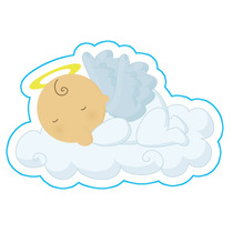 Kit Imprimible Baby Shower Bautizo Comunion Angelito Nube #2
