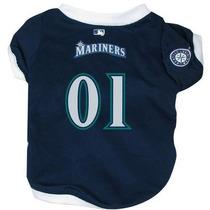 Camisa Para Perro Hunter Mfg Seattle Mariners Jersey Dog Az