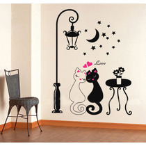 Sticker Vinil Decorativo De Pared Para El Hogar Gatitos