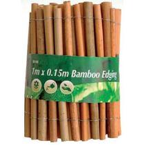 Césped Ribete - 1mx 0.15m Jardín De Bambú 15cm Madera