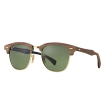 Lentes Ray Ban Rb3016m 11824e Clubmaster Wood Verde Clasico!