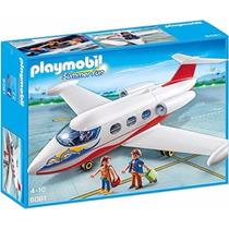 Playmobil 6081 Avion D Pasajeros Jet Ciudad Retromex