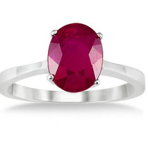 Anillo Con Rubi Natural Oval De 10.16 Ct. -50%