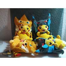 Pikachu Mega Charizard X, Gorro Peluche Pokemon