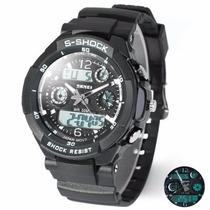 Reloj Militar Skmei Schock Sumergible 50 Mts Mod 0931 Silver