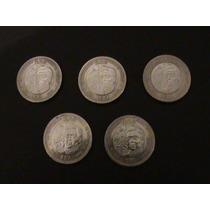 Lote De 5 Monedas 10 Pesos Aniversario Batalla De Puebla