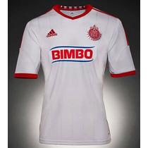 Jersey Chivas Rayadas Del Guadalajara Adidas Blanca.