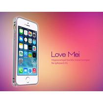 Bumper Love Mei Buckle Bicolor Aluminio Iphone 5g 5s Gris Ox