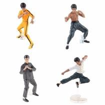 Bruce Lee Kung Fu Figuras De Acción 4 Pzas Original Bandai