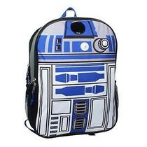 Star Wars Mochila Backpack R2d2 Con Luces Y Sonido Real