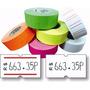 15000 Etiquetas De 21x12mm Colores Etiquetadora Precio Tinta