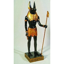 Dios Egipcio Anubis Estatua Deidad Chacal Figurita