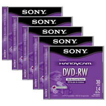 Paq.5 Mini Discos Dvd-rw Sony Handycam 4x 1.4gb Re-grabables
