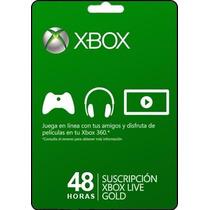 Tarjeta Gift Card Xbox Live Membresia De 2 Días Envío Gratis