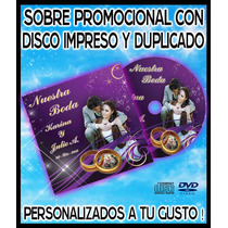 10 Sobres De Carton Con Disco Impreso Y Copiado. Cd O Dvd