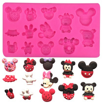 Molde De Silicon De Figuras Estilo Mickey Mouse Y Mimi