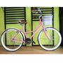 Bicicleta Retro Vintage Rodada 26 36 Rayos Rosa