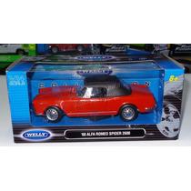1:24 Alfa Romeo 2600 Spyder 1960 Rojo Soft Top Welly C Caja