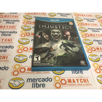 Remate! Injustice Among Us Wii U Seminuevo
