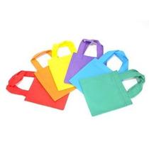 24 Poli No Tejidas Bolsas De Mano 6 Colores Surtidos Partid