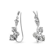 Arete Bling Jewelry Moderno Orugas Plata Esterlina