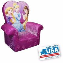 Silla Sillon Infantil Con Respaldo Alto Disney Princesas