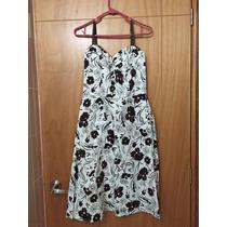 Vestido Liz Minelly Corto Blanco Estampado Flores