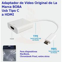 Usb C 3.1 A Hdmi Adaptador De Video Original De Marca Boba