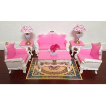 Gloria Barbie Sized Deluxe Sala De Estar Muebles Y Accesorio