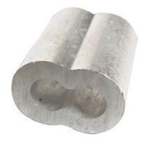 Casquillo Doble Aluminio 1/8 Con 100 Piezas Obi