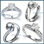 Anillos Compromiso Diamante Natural .45ct Gh Vs Oro 14kt
