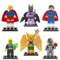 Set Supergirl Batzarro Superman Brainiac Ciborg Para Armar