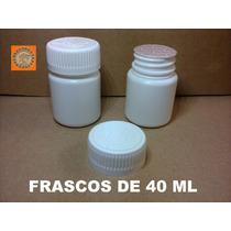 Envases, Frascos De Plástico 40 Ml (paq 100 Pzas) $350.00