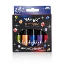 Nail Art - Mini Paquete De 5 Jewel Micro Plumín Plumas Pint