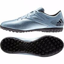 Tenis Futbol Adidas Messi 10.4 Tf Azul Tacos Indoor/sintetic