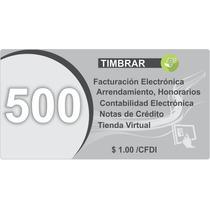 500 Folios +50 Gratis Facturación Electrónica Timbrar Cfdi