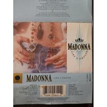 Madonna: Like A Prayer. Cassette Usado 1ra Edición 1989 Usa.