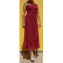 Vestido De Graduacion Color Tinto, Talla M, Remate!!!