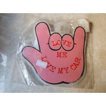 Adorno Automovil Mano Rosa Pink Hand Rock Sign By Crazy Gang