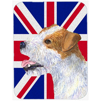 Jack Russell Terrier Con Union Jack Británica Inglés Crist