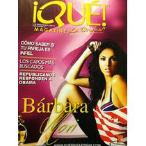 Barbara Mori Revista Que Magazine