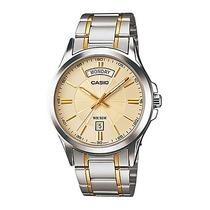 Reloj Casio Caballero Mtp1381g - 9av Analogo 100% Original