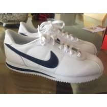 Nike Cortez Piel. Azul Y Blanco. 8.5 Y 8mx