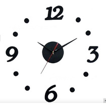 Reloj Minimalista Hagalo Usted Mismo, Foamy Color Negro 40cm