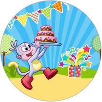 Kit Dora Botas Chivic Cumpleaños Invitaciones Tarjetas Baby