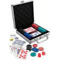Set De Poker Con¡100 Fichas! ¡estuche De Aluminio Y Cartas !