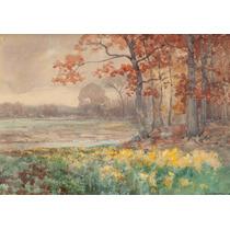 Lienzo Tela Paisaje 1908 Texas 50 X 72 Cm Decoración Pintura