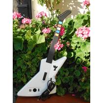 Guitarra Guitar Hero X-plorer Blanca Para Xbox 360